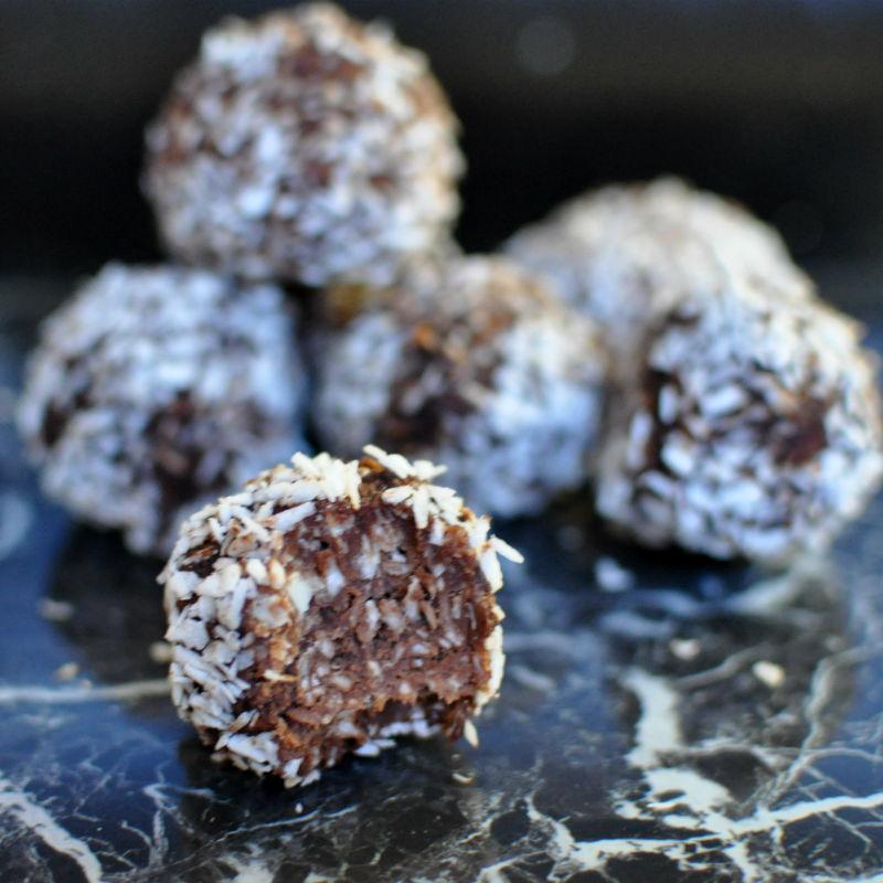 Keto coconut balls dessert snack recipe