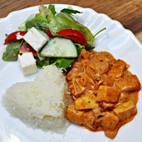 Keto Halloumi Stroganoff Vegetarian Recipe