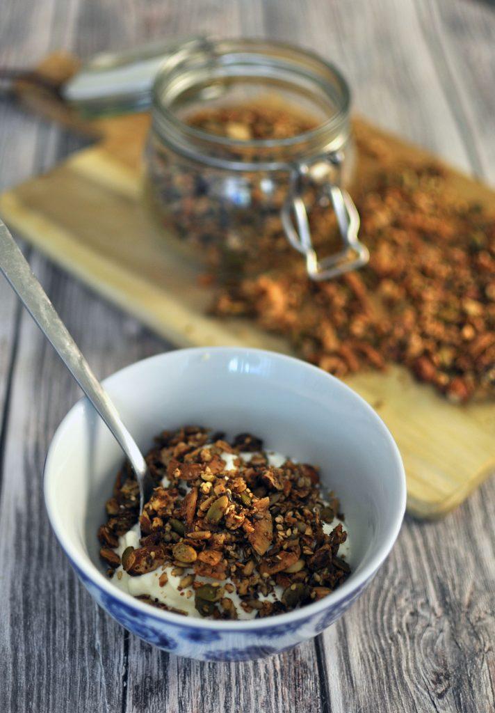 Keto Granola - Breakfast Recipe Low Carb - Ketolibrary