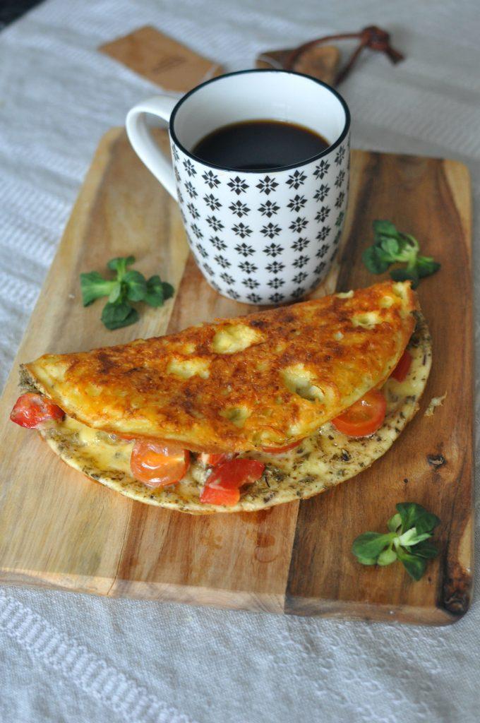 Fried Cheese Omelette Keto Breakfast Recipe