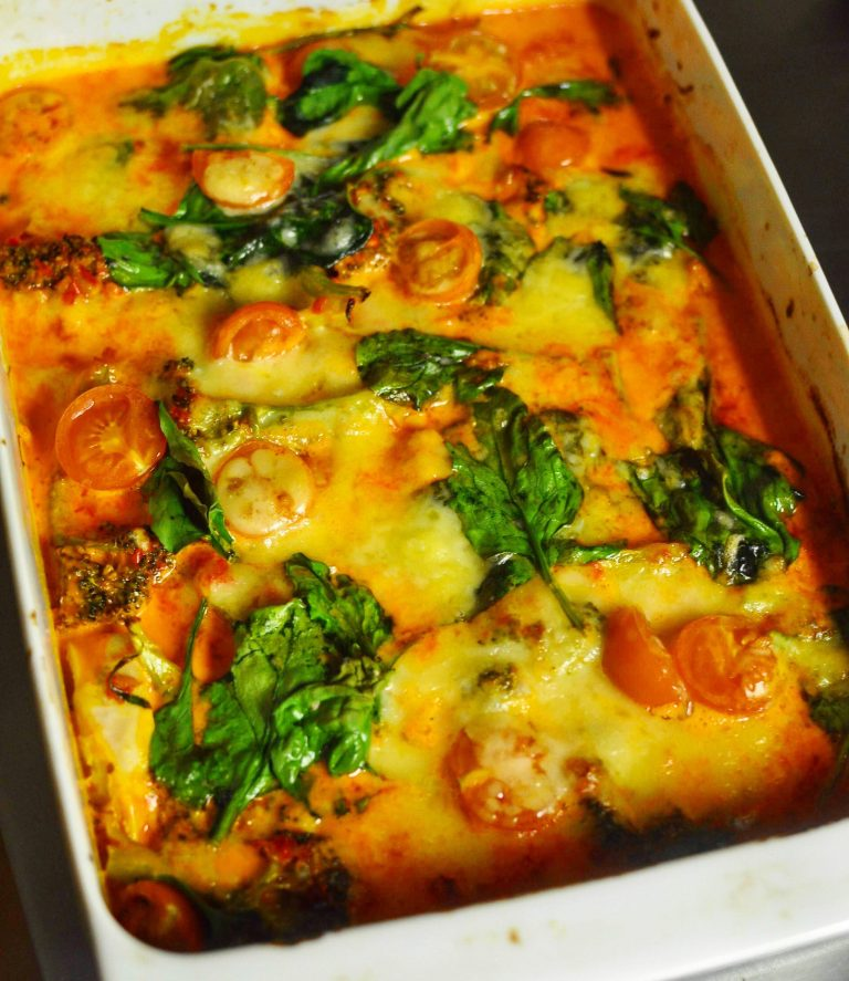 Chicken and broccoli casserole with ajvar