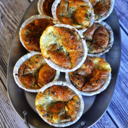 LCHF Matmuffins Med Spenat Och Feta - LCHF Frukost Recept