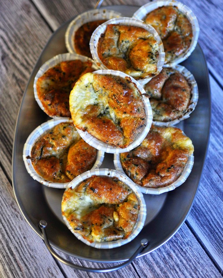 Keto Muffins With Spinach & Feta
