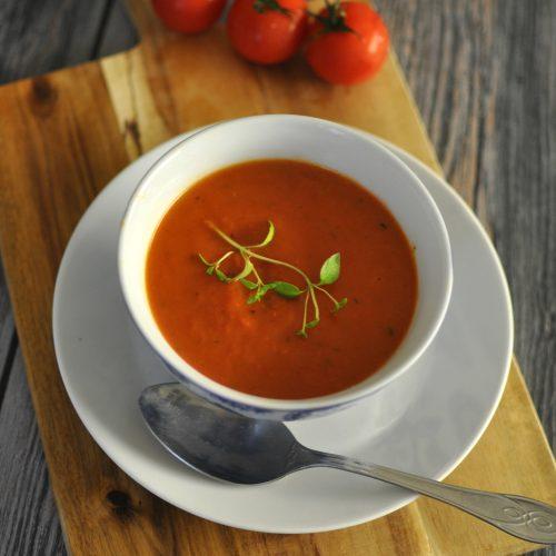 Dairy Free Tomato Soup - Vegan Keto Recipe - Ketolibrary.com