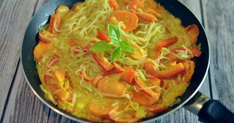 Vegan curry noodles recipe