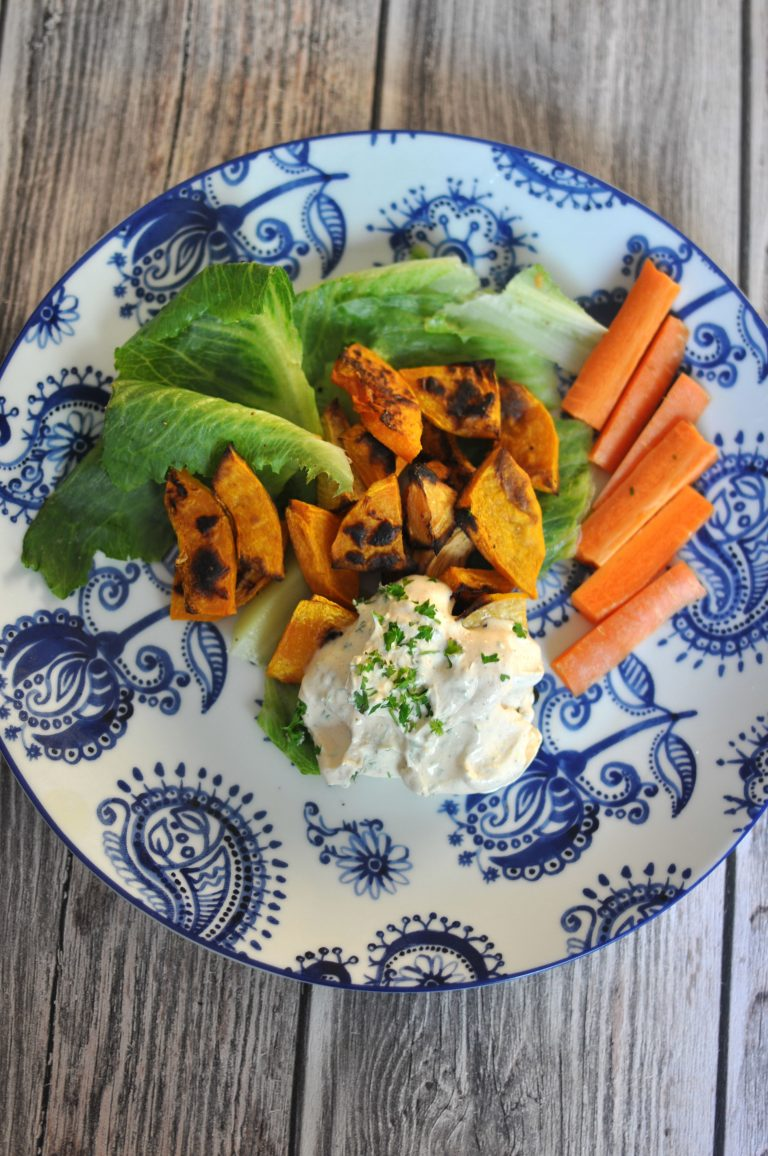 Oven-Roasted Butternut Squash with Parsley Sauce